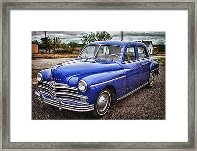 Old Blue  Framed Print by Tony Grider