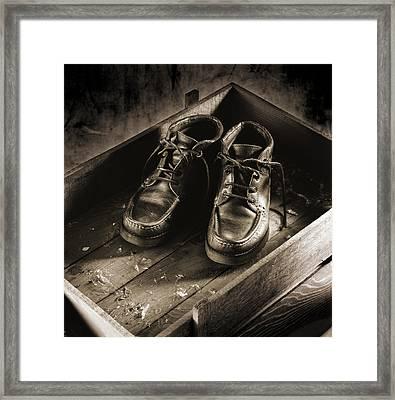 Old Boots Framed Print by Daniel Sanchez Blasco