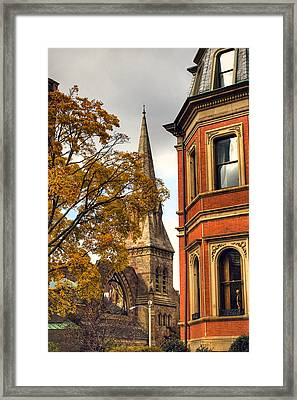 Old Boston Framed Print by Joann Vitali