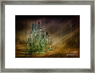 Old Bottles Framed Print by Veikko Suikkanen