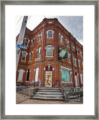 Old Brick Building In Downtown Montezuma Iowa - 01 Framed Print by Gregory Dyer