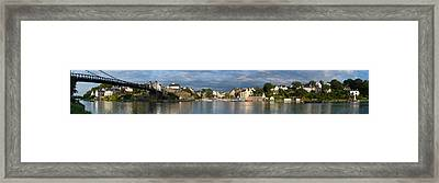 Old Bridge Over The Sea, Le Bono, Gulf Framed Print by Panoramic Images