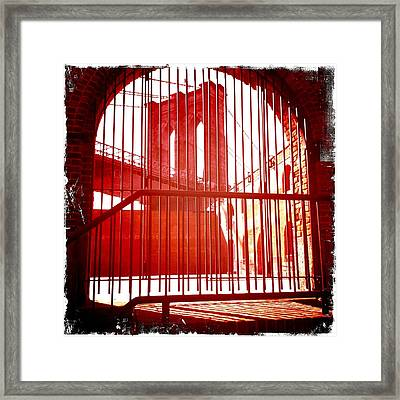 Old Brooklyn Framed Print by Frank Winters