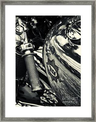 Old Bsa Cafe Racer Framed Print by Tim Gainey