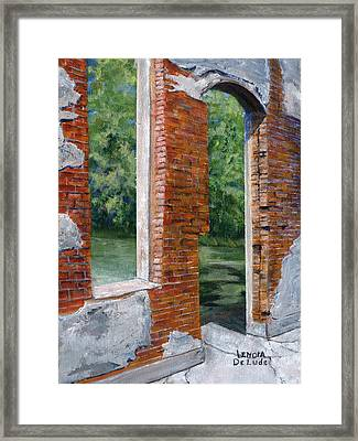 Old Building In Pleasant Hill Louisiana Framed Print by Lenora  De Lude