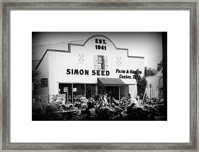 Old Building New Bikers Framed Print by Laurie Perry