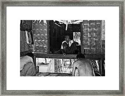 Old Burmese Smoker Woman Framed Print by RicardMN Photography