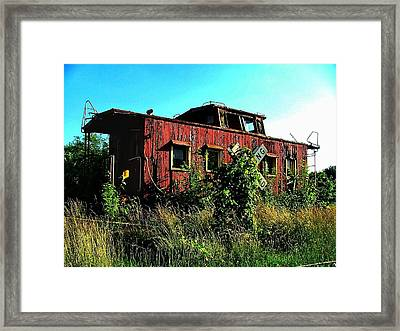Old Caboose Framed Print by Julie Dant