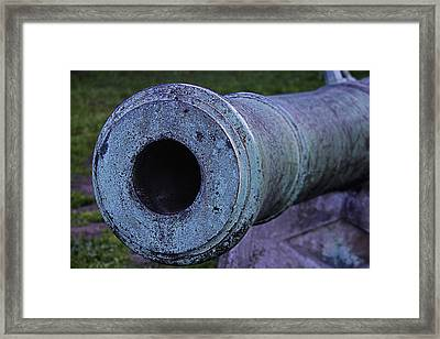 Old Canon Barrel Framed Print by Garry Gay