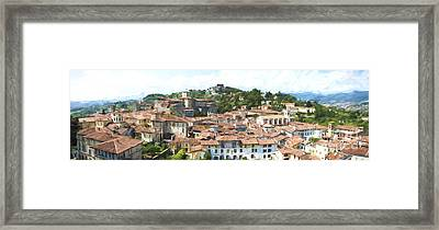 Old Centre Of Bergamo Framed Print by Perry Van Munster