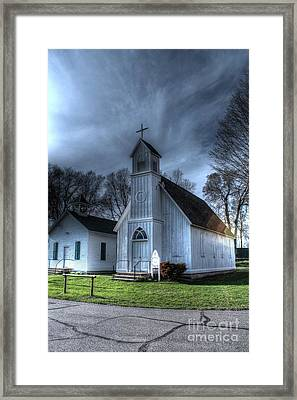 Old Church And School House Framed Print by Jimmy Ostgard