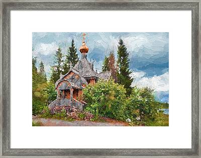 Old Church In Forest 2 Framed Print by Yury Malkov
