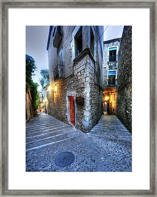 Old City Girona Framed Print by Isaac Silman