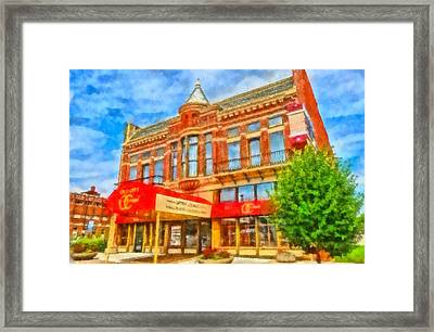 Old City Prime Restaurant Lima Ohio Framed Print by Dan Sproul