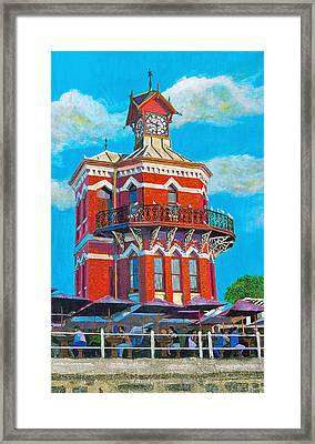 Old Clock Tower Framed Print by Michael Durst