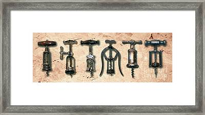 Old Corkscrews Painting Framed Print by Jon Neidert