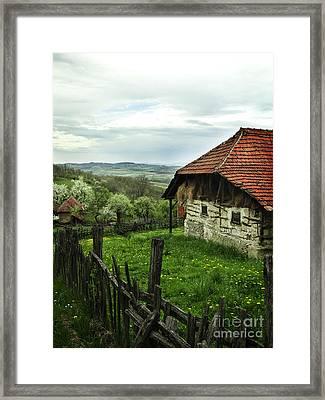 Old Cottage Framed Print by Jelena Jovanovic