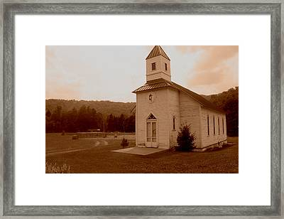Old Country Church Sepia Framed Print by Dale Bradley