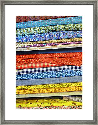 Old Country Store Fabrics Framed Print by Christine Till