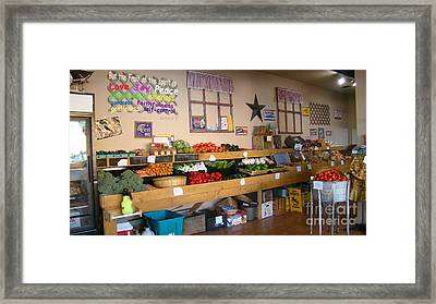 Old Country Store With Love Framed Print by Beverly Guilliams