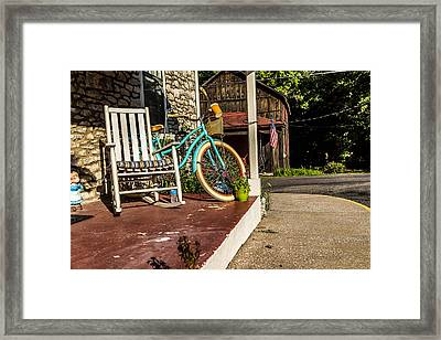 Old Country Street Scene. Framed Print by Jack Rainey
