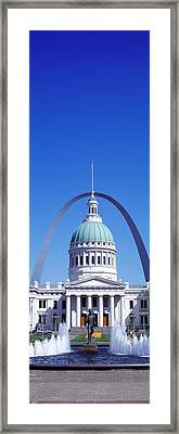Old Courthouse & St Louis Arch St Louis Framed Print by Panoramic Images