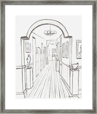 Old Courthouse Hall Number Three Framed Print by Stacy C Bottoms
