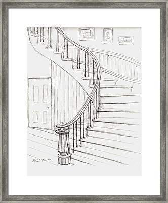 Old Courthouse Stairs Number Two Framed Print by Stacy C Bottoms
