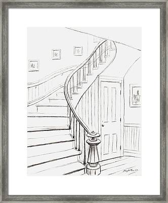 Old Courthouse Stairs Number One Framed Print by Stacy C Bottoms