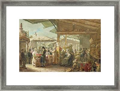 Old Covent Garden Market Framed Print by George the Elder Scharf