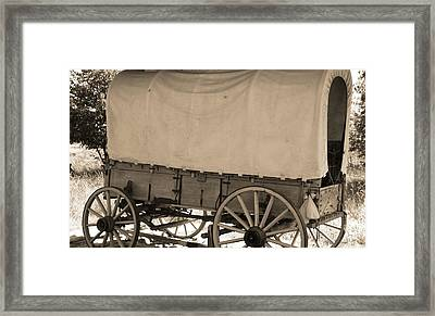 Old Covered Wagon Out West Framed Print by Dan Sproul