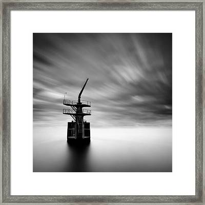Old Crane Framed Print by Dave Bowman