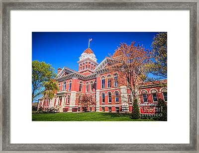 Old Crown Point Courthouse Framed Print by Paul Velgos
