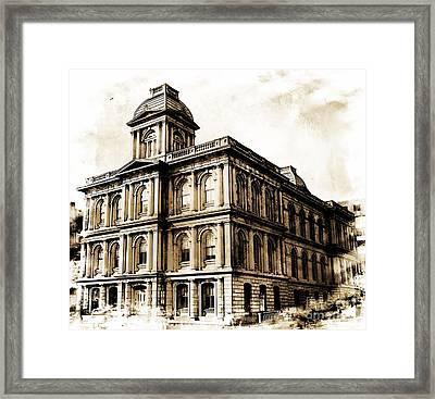 Old Custom House Framed Print by Marcia Lee Jones