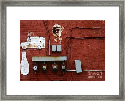 Old Dairy Wall 1 Framed Print by James Brunker