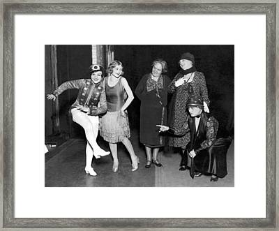 Old Dance Meets New On Stage Framed Print by Underwood Archives