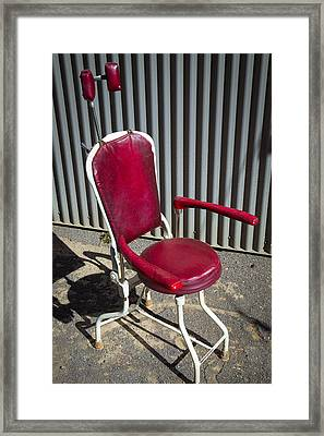 Old Dentist Chair Framed Print by Garry Gay