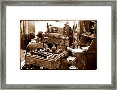 Old Dentistry Framed Print by Julie Palencia