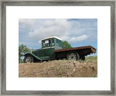 Old Dodge Truck  Framed Print by Steven Parker