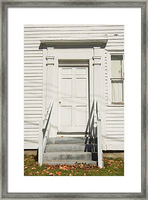Old Door And Steps Close-up Framed Print by Keith Webber Jr