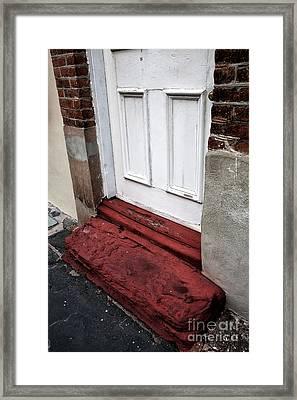 Old Door In Charleston Framed Print by John Rizzuto