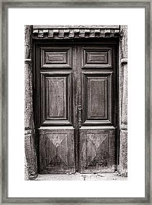 Old Door Framed Print by Olivier Le Queinec