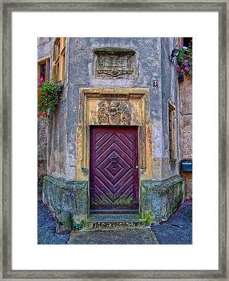 Old Doors Of Germany Framed Print by Mountain Dreams