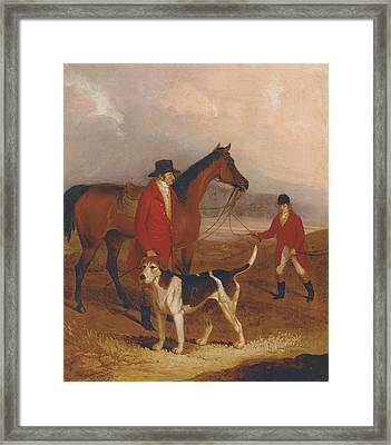 Old Druid With Richard King Sampson Framed Print by Thomas Henwood