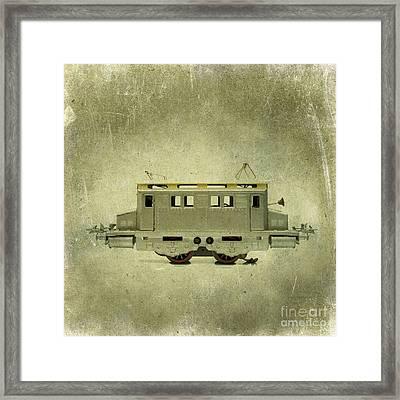 Old Electric Train Framed Print by Bernard Jaubert
