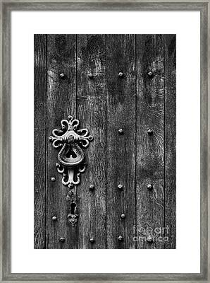 Old English Church Door Handle Framed Print by Tim Gainey