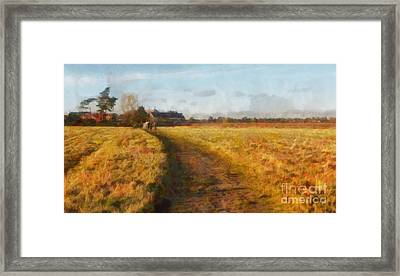 Old English Landscape Framed Print by Pixel Chimp