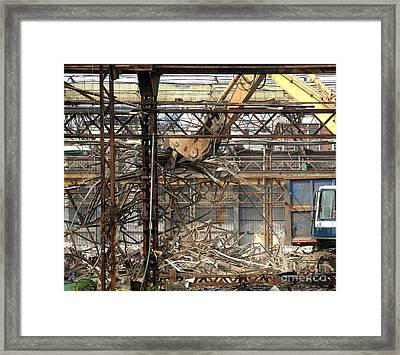 Old Factory Is Being Demolished Framed Print by Yali Shi