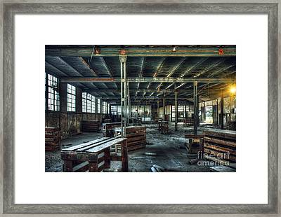 Old Factory Ruin Framed Print by Carlos Caetano