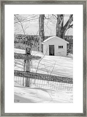 Long Cold Winter Framed Print by Edward Fielding